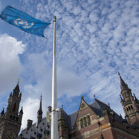 The Peace Palace, seat of the International Court of Justice (ICJ), at The Hague, Netherlands.