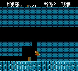 Super Mario Bros. 4-2 Difficult Wall Clip (With Turbo Jump) 1-10 screenshot.png