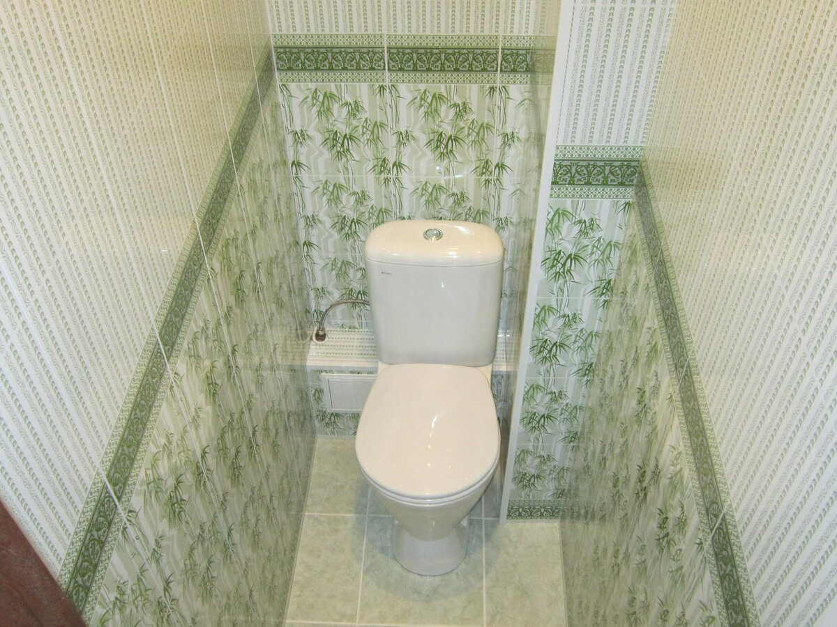 Картинки ремонт в туалете панелями