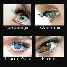 Дарийцы, Харийцы, Расены и Святорусы: внешность, цвет глаз, характер и особенности