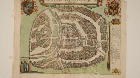 План Москвы Сигизмунда Герберштейна, 1577.