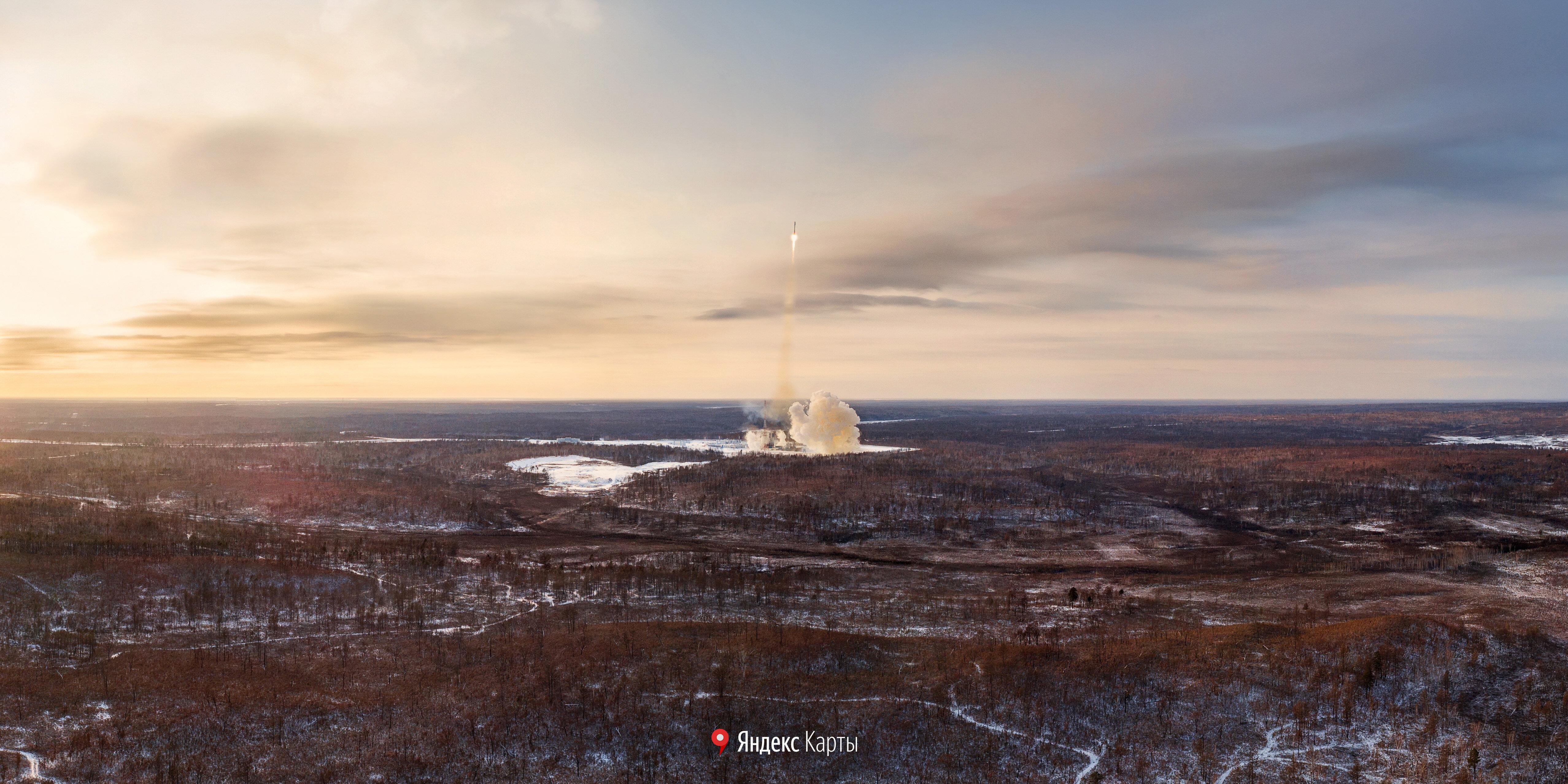 панорамы космодрома Восточный