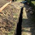 Земляные работы по устройству котлована под септик