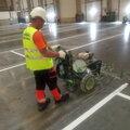 Нанесение разметки и маркировки опасных зон на складе и производстве