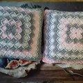 вязаные подушки,пледы,коврики