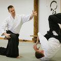 Занятия айкидо с тренером