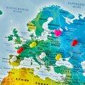 Карта мира на пробковой доске