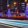 Новогоднее оформление зданий и пространств