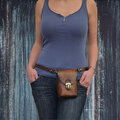 Авторские кожаные сумки на пояс ручной работы