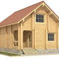 Дом из оцилиндрованного бревна 6,2х8,2