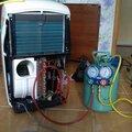 Заправка фреоном мобильного напольного кондиционера