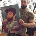 Цифровая живопись. Портрет на холсте