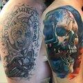 Перекрытие старых татуировок