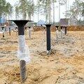 Строительство винтового свайного фундамента