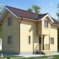Строительство дома из бруса по Проекту 83