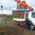 Доставка бетонных колец с монтажем в яму