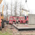 Строительство здания из железобетонных панелей