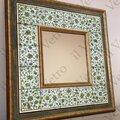 Обрамление для зеркал из керамической плитки с росписью