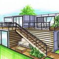 Завод блочно-модульных и специальных конструкций, Строительство быстровозводимого дома в Красноярском районе