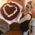 Букет из 101 розы в форме сердца