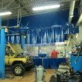 Промышленные шторы  установка