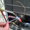 Устранение засора капиллярной трубки холодильника