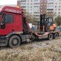 Грузовой эвакуатор для перевозки тяжелых транспортных средств, тягачей, фур, автобусов