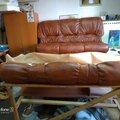 Ремонт , перетяжка кожаной мебели. Частичная замена кожи.