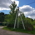 Установка столбов, опор  воздушных линий электропередач