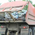 Вывоз мусора автомобилем КАМАЗ