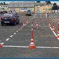 Занятия по вождению на площадке