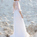 Пошив свадебного платья из натурального шелка