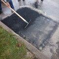 Ямочный ремонт асфальтового дорожного покрытия