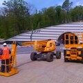 Самоходные дизельные подъёмники с Рабочей высотой 8, 12, 15, 18, и 20 метров.