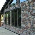 Монтаж фасада из натурального камня