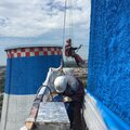 Промышленный Альпинист, Фасадное остекление в Троицком