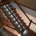 Отделка металлических лестниц
