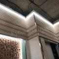 Монтаж одноуровневых потолков с Led лентой