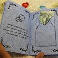 Изготовление сберкнижки для молодожен(открытка для денег)