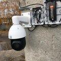 Установка поворотных видеокамер PTZ
