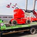 Перевозка погрузчика до 4 тонн на эвакуаторе со сдвижной платформой