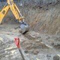 Разработка грунта экскаватором