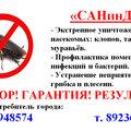 служба дезинфекции, уничтожение насекомых