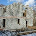 Кладка наружных стен из пенобетонных блоков