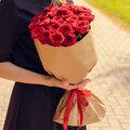Букет из 21 красной розы (60см)