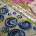 Войлок (валяние из шерсти): шарф на шёлке
