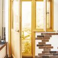 Деревянный балконный блок