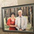 Портрет в подарок по фото на холсте